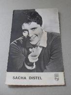 Carte Avec Sacha Distel - Disques Philips - Non Classés