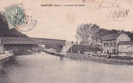 D60  SEMPIGNY  Le Pont Du Canal  ........... Avec Péniche Et Commerce - Noyon