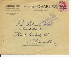 Lettre Deutsches Reich  - BRACQUEGNIES Hector Charlez   (  Ctr. Militarische  ) - Guerre 14-18