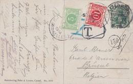 DR Karte EF Minr.85I Kos Altenberg (Rheinland) 12.7.14 Gel. Nach Belgien Nachporto - Deutschland