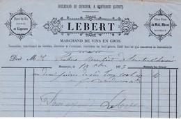 45-Lebert...Eaux De Vie, Cognac,Liqueurs....Montargis..(Loiret)....1875 - France