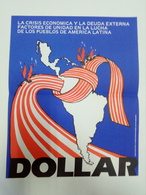 Affiche C. 1980 Amerique Latine Propagande Contre Les Etats Unis Latin America Anti US Propaganda - Affiches