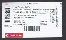2018 - The Cannabis Expo - Time Square, Menlyn Pretoria  - South Africa - Used - Biglietti D'ingresso