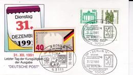 """DDR, Brief """"letzter Tag Der Kursgültigkeit"""" (B 139) - [6] Repubblica Democratica"""
