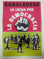 Affiche C. 1980 Bangladesh Democracie Propagande Langue Espagnole Bangladesh Democracy Spanish Language Propaganda - Affiches