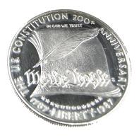 1 Dollar -  200 ème Anniversaire De La Constitution - USA - 1987 - Argent 900. - Sup - 26,7 Gr. - Collections