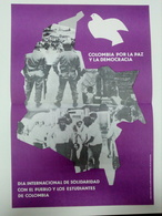 Affiche C. 1980 Colombie Democracie Propagande Colombia Democracy Propaganda - Affiches