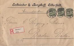 DR R-Brief Mif Minr.5x 316,5x 318A,319A,2x 321B Elberfeld 2.11.23 - Deutschland