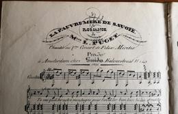 Partition Ancienne Guitare LA PAUVRE MERE DE SAVOIE Romance L. Puget Guido - Partitions Musicales Anciennes