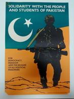 Affiche C. 1980 Solidarité Democracie Paquistan Propagande Solidarity Democracy Pakistan Propaganda - Affiches
