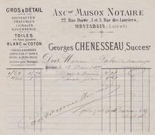 45-G.Chenesseau...Nouveautés, Draperies,Lainages....Montargis..(Loiret)....1873 - France