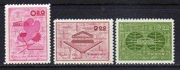 Republic Of China Sc#1352-1354 (1962) UNESCO Activities In China Full Set MNGAI - Neufs