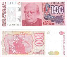 Argentina 100 Australes 1985-1990 UNC Replacement - Argentine