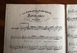 Partition Ancienne Guitare LA PAYSANNE PARVENUE Romance Panseron - Partitions Musicales Anciennes