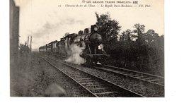 Les Locomotives (Etat)  Chemin De Fer De L'Etat  Le Rapide De Paris-Bordeaux. - Trains