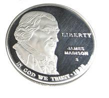 1 Dollar -  J.Madison - Montpellier - USA -  1993 - Argent 900. - Sup - 26,7 Gr. - Estados Unidos