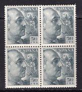 España 1949. Cid Y General Franco Bloque De 4. Ed 1053. MNH. **. - 1931-50 Nuevos & Fijasellos