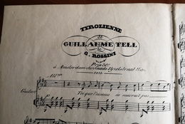 Partition Ancienne Guitare TYROLIENNE De GUILLAUME TELL G. Rossini - Partitions Musicales Anciennes
