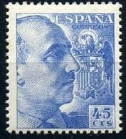 España 1948 / 55. Cid Y General Franco. Ed 1052. MNH. **. - 1931-50 Nuevos & Fijasellos
