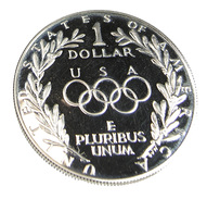 1  Dollar -  Olympiades  -  USA - 1988 - Argent 900. - Sup - 26,7 Gr. - - Collezioni