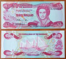 Bahamas 3 Dollars 1974 (1984) UNC - Bahamas