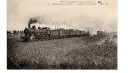 Les Locomotives (Etat)  Chemin De Fer De L'Etat  Rapide De Paris-Brest. - Trains