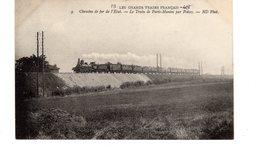 Les Locomotives (Etat)  Chemin De Fer De L'Etat  Le Train De Paris-Mantes Par Poissy. - Trains