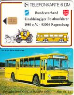 GERMANY - Bundesverband Unabhängiger Postbusfahrer 11/Mercedes Benz O 317(K 401), Tirage 5000, 09/94, Mint - Germania