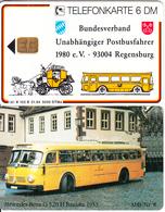 GERMANY - Bundesverband Unabhängiger Postbusfahrer 8/Mercedes Benz O 320(K 102 B), Tirage 5000, 01/94, Mint - Germania