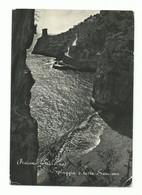 CARTOLINA POSTALE SALERNO PRAIANO SPIAGGIA E TORRE SARACENA VG 1956 (ANGOLO) - Salerno