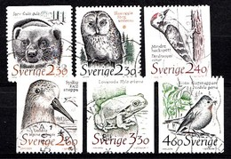 Suède 1989 Mi.Nr.: 1520-1525 Natur  Oblitérés / Used / Gestempeld - Sweden