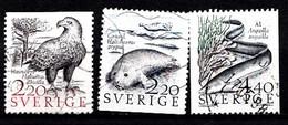 Suède 1988 Mi.Nr.: 1479-1481  Natur  Oblitérés / Used / Gestempeld - Sweden