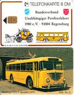 GERMANY - Bundesverband Unabhängiger Postbusfahrer 5/Bussing 6500 T(K 102 A), Tirage 5000, 01/94, Mint - Germania
