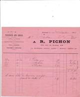 45-R.Pichon....Tissus En Gros...Montargis...(Loiret)...1883 - Textile & Clothing