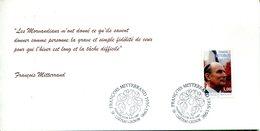 PRANCE - Premier Jour Y&T 3042 - François Mitterand - Souvenir Philatélique De La Poste De Château-Chinon - FDC