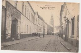 """Tienen, Thienen, Tirlemont, Kazernestraat Met Legendarische Ingang """"Societé Royale Des Beaux Arts"""", Collectors - Tienen"""