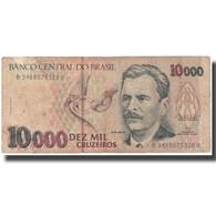 Billet, Brésil, 10,000 Cruzeiros, Undated (1991-93), KM:233b, TB - Brésil