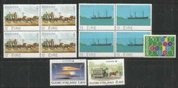3 Pcs EIRE - LIECHENSTEIN - FINLAND - MNH - Europa-CEPT - Transport - 1988 - Europa-CEPT