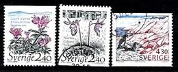 Suède 1989 Mi.Nr.: 1566-1568 Natur  Oblitérés / Used / Gestempeld - Sweden