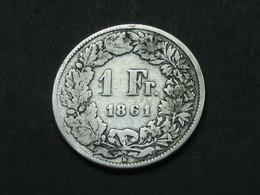 1 Franc 1861 B En Argent - Silver  - Suisse - Switzerland **** EN ACHAT IMMEDIAT **** - Suisse