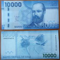 Chile 10000 Pesos 2013 UNC Prefix AA - Chili