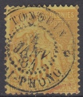 #134# COLONIES GENERALES N° 53 Oblitéré Hai-Phung (Tonquin) - Alphee Dubois
