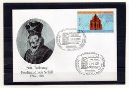 BRD, 2009, Brief Mit Michel 2195 Und Sonderstempel, Ferdinand Von Schill - [7] Federal Republic