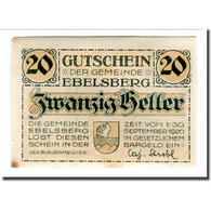 Billet, Autriche, Ebelsberg, 20 Heller, Paysage 2, 1920, SPL, Mehl:140II - Autriche