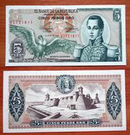 Colombia 5 Pesos Oro 1968 XF/aUNC - Colombie