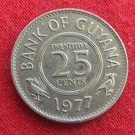 Guyana 25 Cents 1977 KM# 34 Guiana - Guyana