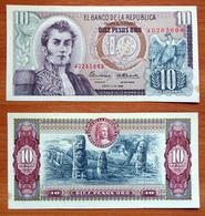 Colombia 10 Pesos Oro 1969 AUNC - Colombie