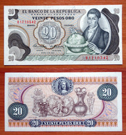 Colombia 20 Pesos Oro 1969 UNC - Colombie