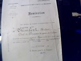SNCF Train Chemin De Fer De Paris A Lyon Et A La Mediterrannée Promotion Au Traitement D'un Chef De Gare Annee 1926 - Chemin De Fer