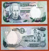 Colombia 200 Pesos Oro 1992 UNC - Colombie
